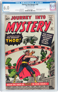 Journey Into Mystery #83 (Marvel, 1962) CGC FN 6.0 Off-white to white pages