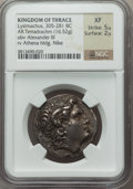 Ancients:Greek, Ancients: THRACIAN KINGDOM. Lysimachus (305-281 BC). AR tetradrachm(16.52 gm)....