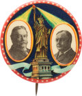 "Political:Pinback Buttons (1896-present), Taft & Sherman: Classic 1¾"" Statue of Liberty Jugate...."