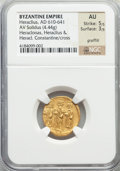 Ancients:Byzantine, Ancients: Heraclius (AD 610-641). AV solidus (4.44 gm)....