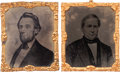 Political:Ferrotypes / Photo Badges (pre-1896), Lincoln & Hamlin: Matched Pair of Large Tintypes by Abbott ofNew York.... (Total: 2 Items)