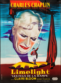 """Limelight (United Artists, 1952). French Grande (45"""" X 61""""). Drama"""
