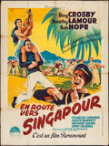 "Movie Posters:Comedy, Road to Singapore (Paramount, 1940). French Grande (47"" X 63"").Comedy.. ..."