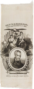 Political:Ribbons & Badges, William Henry Harrison: Silk Ribbon....