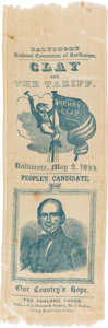 "Political:Ribbons & Badges, Henry Clay: ""The Ashland Badge"" Baltimore Convention Ribbon...."