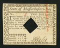 Colonial Notes:Massachusetts, Massachusetts May 5, 1780 $2 Extremely Fine-About New, HOC.. ...