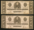 Confederate Notes:1863 Issues, T62 $1 1863 PF-17 Cr. 480. T62 $1 1863 PF-18 Cr. 482.. ... (Total:2 notes)