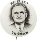 "Political:Pinback Buttons (1896-present), Harry S Truman: A Very Rare 1"" Button Variety...."