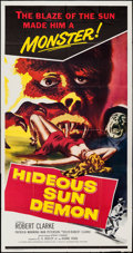 "Movie Posters:Science Fiction, Hideous Sun Demon (Pacific International, 1959). Three Sheet (41"" X81""). Science Fiction.. ..."