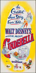 "Movie Posters:Animation, Cinderella (Buena Vista, R-1957). Three Sheet (41"" X 83"").Animation.. ..."