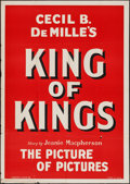 "Movie Posters:Historical Drama, The King of Kings (Film Exchange, R-1931). One Sheet (29"" X 41"").Historical Drama.. ..."