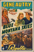 "Movie Posters:Western, Blue Montana Skies (Republic, 1939). One Sheet (27"" X 41"").Western.. ..."