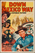"Movie Posters:Western, Down Mexico Way (Republic, 1941). One Sheet (27"" X 41""). Western.. ..."
