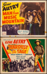 "Man from Music Mountain & Other Lot (Republic, R-1940s). Half Sheets (2) (22"" X 28"") Style B. Western..."