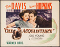 "Movie Posters:Drama, Old Acquaintance (Warner Brothers, 1943). Half Sheet (22"" X 28""). Drama.. ..."