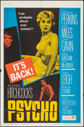 "Movie Posters:Hitchcock, Psycho (Paramount, R-1965). One Sheet (27"" X 41""). Hitchcock.. ..."
