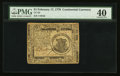 Colonial Notes:Continental Congress Issues, Continental Currency February 17, 1776 $1 PMG Extremely Fine 40.....