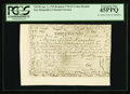Colonial Notes:New Hampshire, Cohen Reprint New Hampshire April 3, 1755 Redated June 1, 1756 £3 PCGS Extremely Fine 45PPQ.. ...