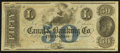 Obsoletes By State:Louisiana, New Orleans, LA- Canal & Banking Co. $50 18__ Remainder. ...
