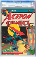 Golden Age (1938-1955):Superhero, Action Comics #23 (DC, 1940) CGC VF+ 8.5 Cream to off-white pages....