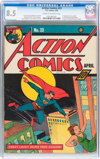 Action Comics #23 (DC, 1940) CGC VF+ 8.5 Cream to off-white pages