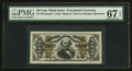 Fractional Currency:Third Issue, Fr. 1324SP 50¢ Third Issue Spinner Narrow Margin Face PMG Superb Gem Unc 67 EPQ.. ...
