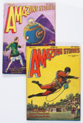 Pulps:Science Fiction, Amazing Stories - Buck Rogers Group (Ziff-Davis, 1928-29 )Condition: Average FN/VF.... (Total: 2 Items)