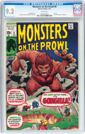 Bronze Age (1970-1979):Horror, Monsters on the Prowl #9 (Marvel, 1971) CGC NM- 9.2 White pages....