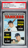 Baseball Cards:Singles (1970-Now), 1970 Topps Yankees Rookies Thurman Munson #189 PSA Gem Mint 10 - Pop Two....