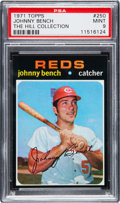 Baseball Cards:Singles (1970-Now), 1971 Topps Johnny Bench #250 PSA Mint 9....