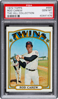 Baseball Cards:Singles (1970-Now), 1972 Topps Rod Carew #695 PSA Gem Mint 10 - Pop Two....