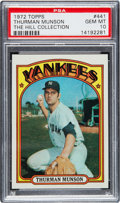 Baseball Cards:Singles (1970-Now), 1972 Topps Thurman Munson #441 PSA Gem Mint 10....