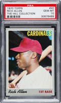 Baseball Cards:Singles (1970-Now), 1970 Topps Rich Allen #40 PSA Gem Mint 10 - Pop One....