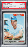 Baseball Cards:Singles (1970-Now), 1970 Topps Luis Aparicio #315 PSA Gem Mint 10 - Pop One....