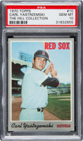 Baseball Cards:Singles (1970-Now), 1970 Topps Carl Yastrzemski #10 PSA Gem Mint 10 - The Ultimate PSAExample!...