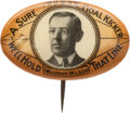Political:Pinback Buttons (1896-present), Woodrow Wilson: One of the Most Iconic Wilson Pinback Rarities....