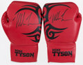 Boxing Collectibles:Autographs, Mike Tyson Signed Boxing Gloves Lot of 2. ...