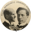 "Political:Pinback Buttons (1896-present), Debs & Harriman: A Rare 1900-dated 7/8"" Third Party Jugate...."