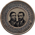 Political:Ferrotypes / Photo Badges (pre-1896), Grant & Colfax: A Superb Near-mint Perpetual Calendar withConjoined Jugate Ferro....