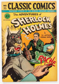 Golden Age (1938-1955):Classics Illustrated, Classic Comics #33 The Adventures of Sherlock Holmes - FirstEdition (Gilberton, 1947) Condition: FN....
