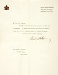 Autographs:U.S. Presidents, President Woodrow Wilson Typed Letter Signed....