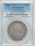 Early Half Dollars, 1795 50C 2 Leaves, A Over E in STATES, O-113a, R.4, VG8 PCGS....