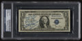 Boxing Collectibles:Autographs, Rocky Marciano Signed Dollar Bill....
