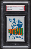 Football Cards:Boxes & Cases, 1972 Topps Football Unopened Wax Pack PSA NM 7.. ...