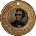 Political:Ferrotypes / Photo Badges (pre-1896), John C. Breckinridge: Back-to-Back Ferrotype Badge....