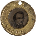 Political:Ferrotypes / Photo Badges (pre-1896), Stephen A. Douglas: Back-to-Back Ferrotype Charm....
