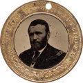 Political:Ferrotypes / Photo Badges (pre-1896), Ulysses S. Grant: Back-to-Back Ferrotype Badge....