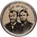 Political:Ferrotypes / Photo Badges (pre-1896), Grant & Colfax: Large Size Ferrotype Jugate....