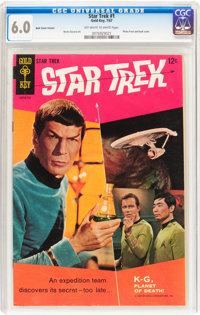 Star Trek #1 (Gold Key, 1967) CGC FN 6.0 Off-white to white pages