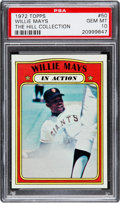 Baseball Cards:Singles (1970-Now), 1972 Topps Willie Mays IA #50 PSA Gem Mint 10 - Pop Two....